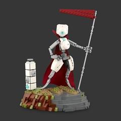 General Scarlet (Anthony (The Secret Walrus) Wilson) Tags: robot lego moc drone afol tfol scifi creation landscape display