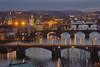 Sinfonia dell'est / Eastern symphony (Vtalva Bridges, Prague, Czech Republic) (AndreaPucci) Tags: prague czechrepublic vltava bridge night letna charlesbridge andreapucci smetana
