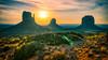Three Mittens Morning Glory (johnsdigitaldreams.com) Tags: hdr sonyalpha aurorahdr landscape fe1635mmf4zaoss az sel35f28z sonya7rm2 luminar johnsdigitaldreamscom johnchandler monumentvalley