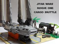 LEGO MOC : Star Wars Rogue One Imperial Cargo Shuttle (LuisPG2015) Tags: moc luispg luispeña imperialcargoshuttle rogueone starwars lego