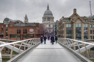 St Paul's Cathedral, London, from Millennium Bridge
