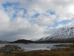 Loch Cluanie, Highlands of Scotland, Feb 2018 (allanmaciver) Tags: loch cluanie scotland highlands snow mountains low view moor bog water bleak blue clouds sky white landscape allanmaciver