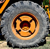 Heavy Duty Tire (maytag97) Tags: maytag97 nikon d750 outdoor outside sunshine tractor tire orange worn large commercial heavy equipment wheel big power industry vehicle black close up parts mighty business