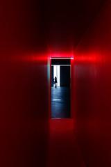 Over there (Chiaro Chiari) Tags: red rosso colors silhouette art fontana arte artista artist light luce milan milano bicocca village museum museo mostra exhibition contemporary contemporanea woman donna italy italia