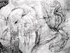 Del primo raggio T'abbaglia lo splendore: bw version (giveawayboy) Tags: pencil crayon eraser drawing sketch art fch tampa artist giveawayboy billrogers delprimoraggiot'abbaglialosplendore tobit tobias raphael angel azarias fish
