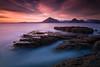 Elgol - Scotland (Bohumil Daňa) Tags: elgol scotland uk unitedkingdom long exposure sea clouds theme mountains rocks colour lee canon