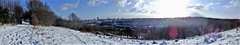 """"""" Fotheringay """" (hope2029) Tags: sunshine snow winter reflections blueskies clouds panorama leeds city centre west yorkshire"""