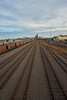 Vanishing (Stueyman) Tags: sony alpha ilce a7 a7ii za zeiss sel1635z newcastle nsw newsouthwales au australia sky railway tracks train industrial