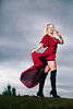 April (Steve Wampler Photography) Tags: photoshoot precisioncamera models red dress clouds dark woman blonde