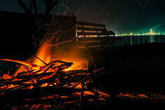 Bonfire night (wander_jed) Tags: fire night camping bonfire longexposure beach seas lights woods dark flame orange yellow travel outdoor philippines island nature
