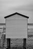 Singular hut (Dan Elms Photography) Tags: beach beachhuts beacheslandscapes hut beachhut mono monochrome blackandwhite blackwhite bw