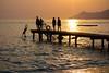 Bring back summer! (Eastern Traveller) Tags: diving swimming silhouette summer oludeniz turkey beach sunset jetty pier
