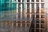 Paris 2018 - Arche de La Défense reflection (cesbai1) Tags: paris ile de france arche la défense grande 75 2018 reflet reflection color couleur pluie plaque puddle