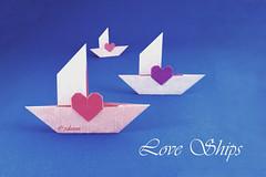 Love Ships (polelena24) Tags: origami heart valentine love ship onesheet 12