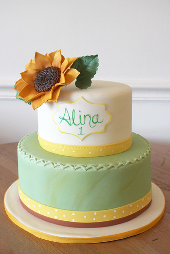Sunflower Elegant Cake