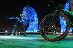 2018 Nightride to the Kelpies (reizkultur) Tags: cycling scotland night exposure lights queensferry surly karate monkey ogre