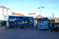Transdev Yorkshire Coastliner 3631 BT66MVO & Arriva North East 1563 NK14GFE (Will Swain) Tags: whitby station 11th november 2017 bus buses transport travel uk britain vehicle vehicles county country england english north east transdev yorkshire coastliner 3631 bt66mvo arriva 1563 nk14gfe