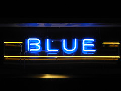 Blue (knightbefore_99) Tags: vancouver west coast pacific city coal harbour northwest blue light neon electric night nuit cool great sign waterfront art