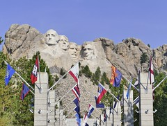 Now and then (evakatharina12) Tags: mountrushmore southdakota blackhills president rock