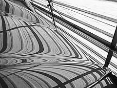 Jaguar Bonnet (Durley Beachbum) Tags: 118picturesin201855 contours stripes abstract monochrome blackwhite car jaguar etype reflections