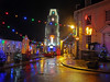 Penryn Lights 5 (Cornishcarolin. Thank you for over 2 Million Views) Tags: cornwall penryn christmaslights christmas lights town clock clocktower building architecture road christmastrees cars 1001nights 1001nightsmagiccity