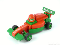 Formula Rally (Unijob) Tags: lego leg godt brick formula 1 f1 formula1 one rally car toy bricks klocki green red tire vehicle helmet driver race racing racer kart sport sports toys moc own creation plant stem stems flower flowers turbo boost rocket bracket brackets front slope slopes curved minifig head unijob lindo
