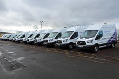 Openreach Ford Transits at Hempstead TEC (majorcatransport) Tags: openreach fordtransit ford gloucester
