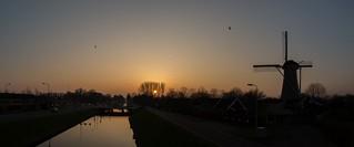 Zonsondergang molen De Eersteling