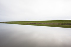 - Reflected Nature Minimalism II - (Manuel Kaboth) Tags: unique wideangle canon60d canon landscape island netherlands texel 2016 autumn fall herbst reflection reflex spiegelung longexposure longtimeexposure