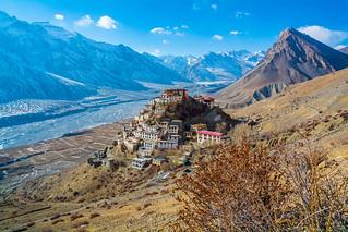 1000 years old Key Monastery, Spiti Valley, India