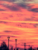 Tuesday Sunset Lamp Posts (CloudBuster) Tags: sunset zonsondergang vandaag today red orange pink sky lucht hemel prachtig amazing cold winter day koude dag friesland fryslân nederland the netherlands colours kleuren zon sun afternoon middag
