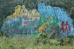 Bemalte Felswand in Vinales