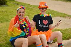 Ready for the parade (radargeek) Tags: gayprideparade 2017 oklahoma oklahomacity parade rainbow ilovevaginas iheartvaginas tshirt smile orange hat thumbsup
