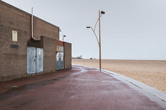 Marina Centre (Number Johnny 5) Tags: tamron d750 imanoot johnpettigrew 2470mm decay doors dismal space mundane beach banal grim wet topographics documenting deserted red streetlamp urban desolate