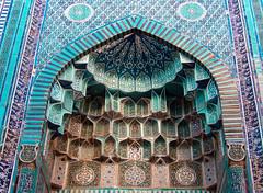 Une alcôve du complexe Chah-E-Zindeh (Histoires de tongs) Tags: uzbekistan ouzbékistan tourdumonde travel trip roundtheworld adventure aventure voyage architecture découverte discover visite visit