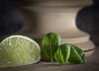 basil and lime (Emma Varley) Tags: lime basil pestle kitchen food cookery wood choppingboard still life