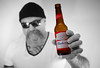 Budweiser. . . (CWhatPhotos) Tags: tattoo tattooed tattoos bottle beer select selective color colour red goatee photographs photograph pics pictures pic picture image images foto fotos photography cwhatphotos that have which with contain mk digital camera lens micro four thirds em5 ii me man male self portrait selfee selfie mine face dark shadow light studio lights shadows hairy tash tach mustache big hair long chin budweiser drink lager label dof bokeh depth field f18