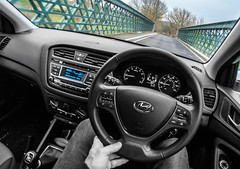 Hyundai i20 SE 2017. . . (CWhatPhotos) Tags: cwhatphotos bridge color colour select selection steering wheel drive driver driving olympus epl8 beanie four thirds wide angle fisheye fish eye view bodycap body cap les 9mm digital camera photographs photograph pics pictures pic picture image images foto fotos photography artistic that have which with contain artistc art light auto automobile car hyundai i20 hyundaii20 12se 12 se vehicle 2017 new brand inside cab dashboard controls interior flickr