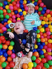 Ball pit fraternal love (quinn.anya) Tags: sam paul toddler preschooler ballpit