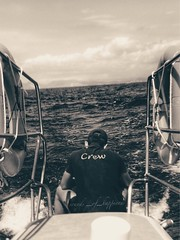 The lost horizons never come back !!! (Sound_of_happiness) Tags: sadness boat trip spain formentera biancoenero blancoynegro boy explore blackandwhitephotography see