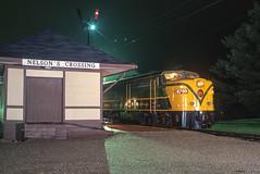Monticello Railway Museum; Monticello IL; 4/2002 (Railroad Photographer) Tags: diesel illinois canadiannational station monticellorailwaymuseum cn cnrail canadiannationalrailway il monticello unitedstates us trains railroads railroad train railway
