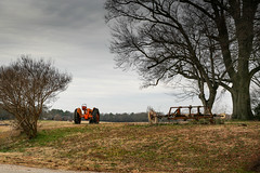 Southern rural setting - Townville, S.C. (DT's Photo Site - Anderson S.C.) Tags: canon 6d sigma 50mm14 art lens townvillesc southcarolina upstate tractor rural southern country farm machinery yard southernlife scenic landscape