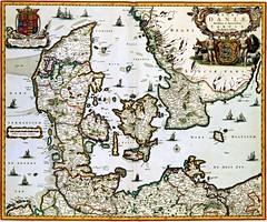 Nicolaes Visscher II - REGNI DANIAE Novissima et Accuratissima TABULA (c.1681) (Pau NG) Tags: nicolaesvisscherii art maps engravings denmark