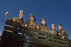 100 лет армии СССР - 100 years of the USSR army (Anton_Letov) Tags: ussr military girl green ww2 sky strobist nikon
