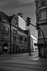 Old post office and Telekom tower (Bielefeld) (Jens Flachmann) Tags: bielefeld germany blackandwhite architecture architectural building street
