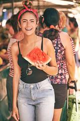 Anna (alcure85) Tags: ifttt 500px portraits feira market fashion beauty women woman waternelon melancia red bandana brunette skinny gorgeous fruits vegetable espiritosanto jardimdapenha