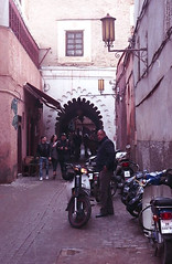 Marrakech Street (thecuriousdead) Tags: morocco aftrica souk marrakech november 35mm film canon colourprocess oldfilm negatives documentary