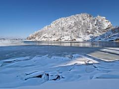 Cold Coast (SGarriott) Tags: sgarriott scottgarriott olympus omd em5ii 714mmf28 winter cold ice snow frozen landscape coast shore mountain trees blue kristiansand vinter is snø kyst