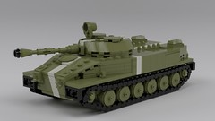 PT-76 V2 (ABS doohickies) Tags: lego ldd render pt76 tank amphibious yssr
