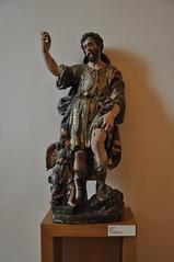 Astorga (León). Museo de los Caminos. San Roque, siglo XV. Procede de Santibáñez de Vidriales (santi abella) Tags: astorga león castillayleón españa museodeloscaminos palacioepiscopaldeastorga